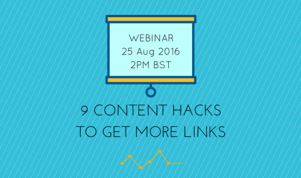 Webinar Invitation: 9 Content Hacks to Get More Links